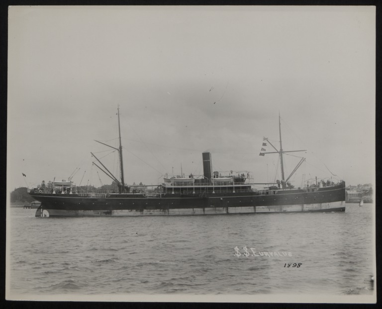 Photograph of Euryalus, A Currie and Company card