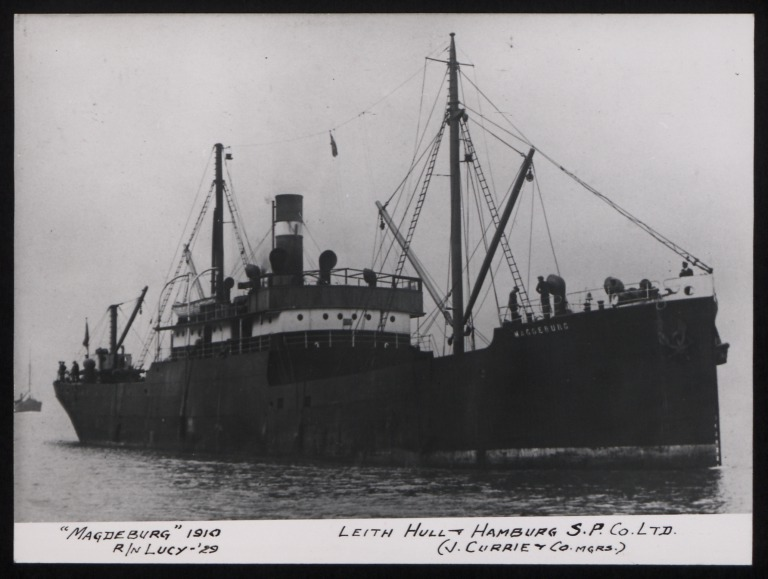 Photograph of Magdaburg (r/n Lucy), J Currie and Company card