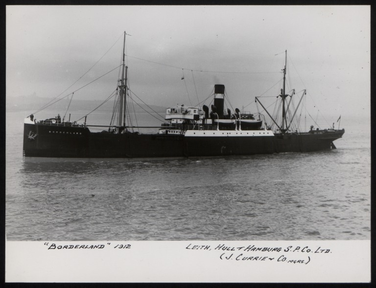 Photograph of Borderland, J Currie and Company card