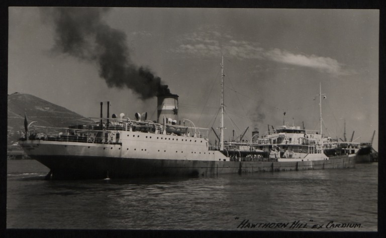 Photograph of Hawthorn Hill (ex Cardium), Counties Ship Management Company card