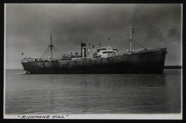 Photograph of Richmond Hill, Counties Ship Management Company card
