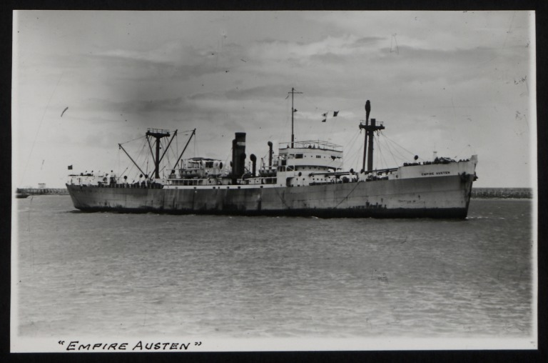 Photograph of Empire Austen, Counties Ship Management Company card
