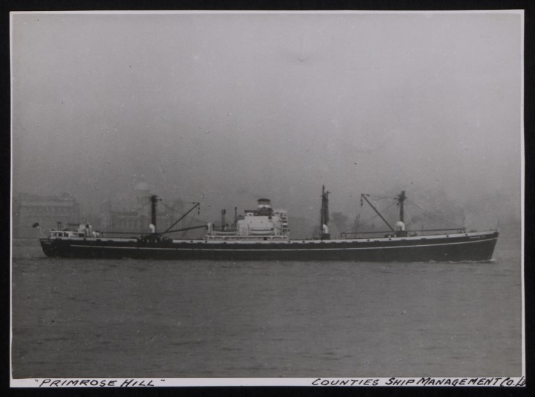 Photograph of Primrose Hill (ex Samflora), Counties Ship Management Company card