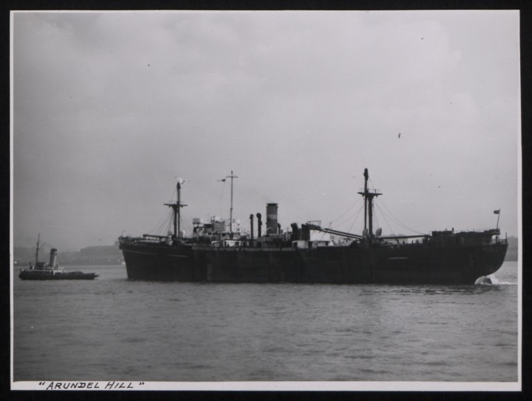 Photograph of Arundel Hill, Counties Ship Management Company card