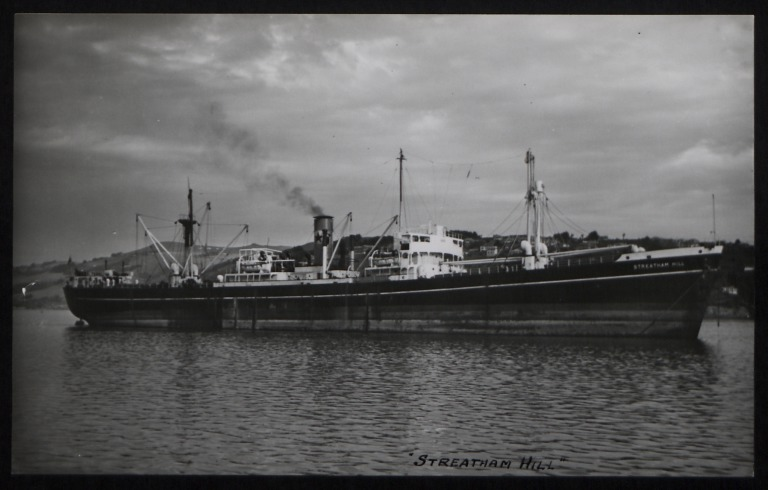 Photograph of Streatham Hill, Counties Ship Management Company card