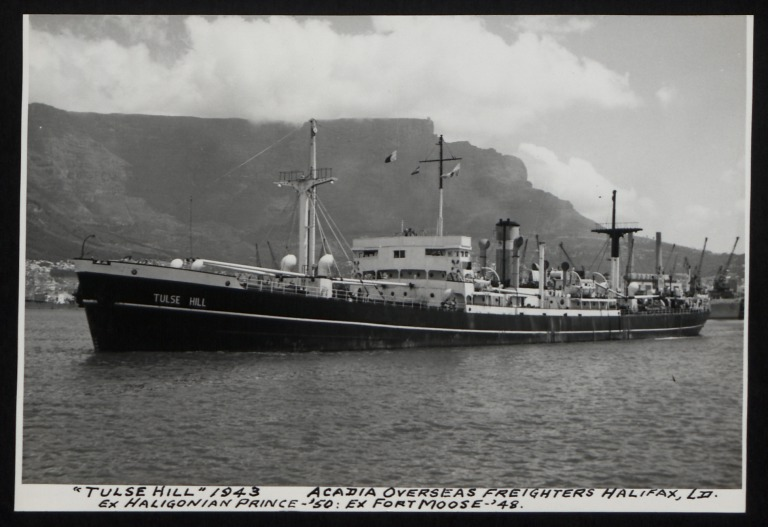 Photograph of Tulse Hill (ex Haligonian Prince), Counties Ship Management Company card