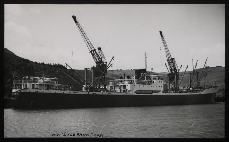 Photograph of Lylepark, J and J Denholm card