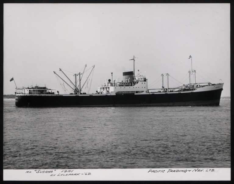 Photograph of Susana (ex Lylepark), Pacific Trading and Nav Ltd card
