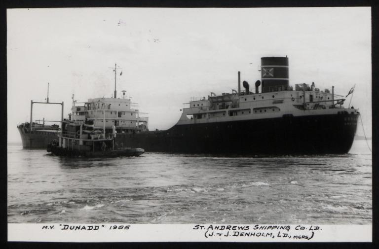 Photograph of Dunadd, J and J Denholm card