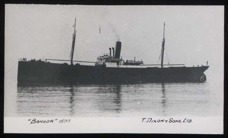 Photograph of Bangor, T Dixon and Sons card