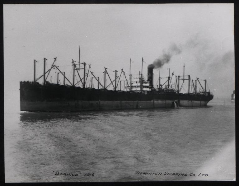Photograph of Daghild, Dominion Shipping Co card