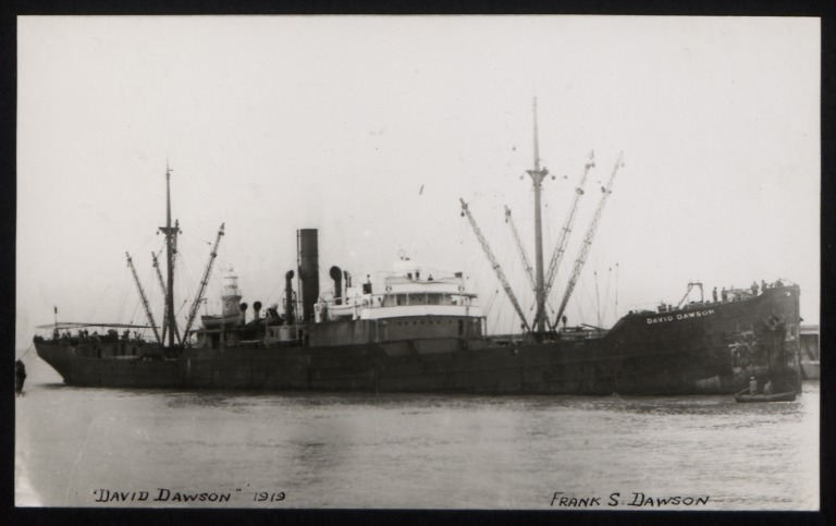 Photograph of David Dawson, Georgian Steam Nav Co card