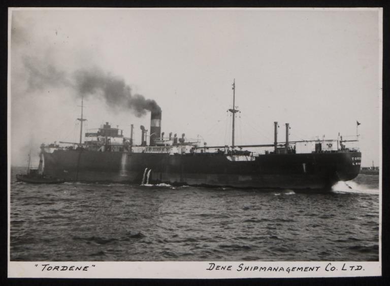 Photograph of Tordene, Dene Shipping Company card