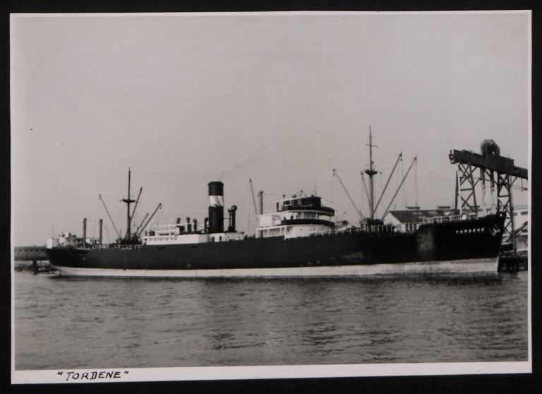 Photograph of Tordene, Dene Shipping Company card