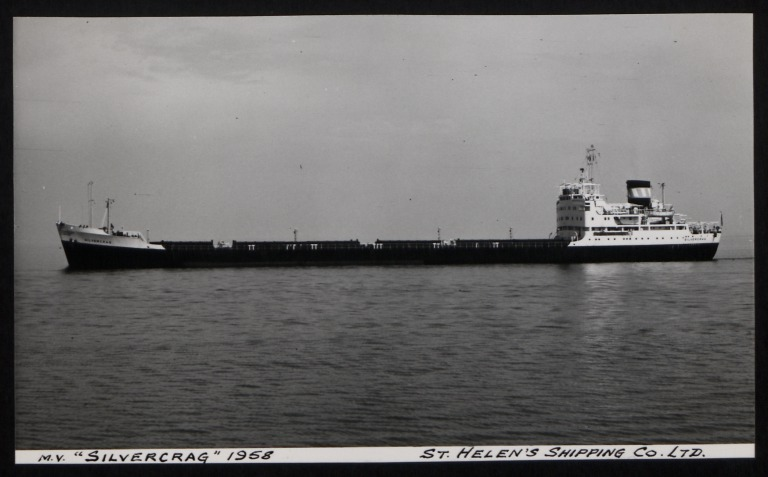 Photograph of Silvercrag, St Helens Shipping Co card
