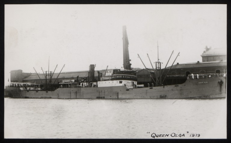Photograph of Queen Olga, Thomas Dunlop and Sons card