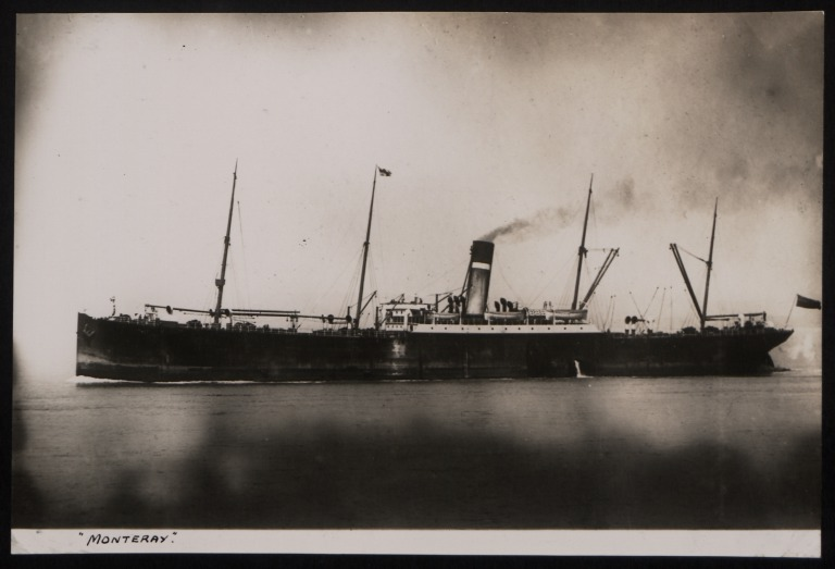 Photograph of Monteray, Dominion Line card