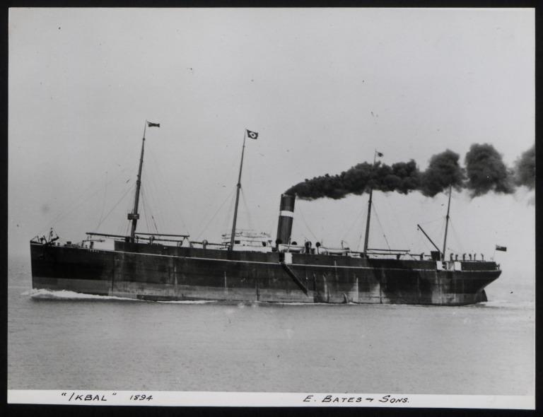 Photograph of Ikbal, Dominion Line card
