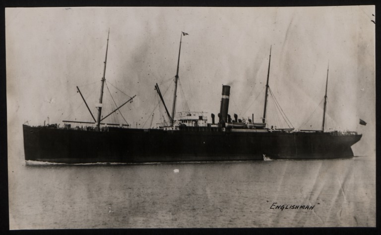Photograph of Englishman (ex Sandusky, Montezuma and Ionia), Dominion Line card