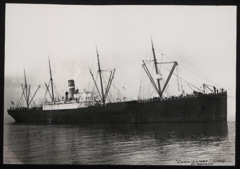 Photograph of Cornishman (ex Nomadic), Dominion Line card