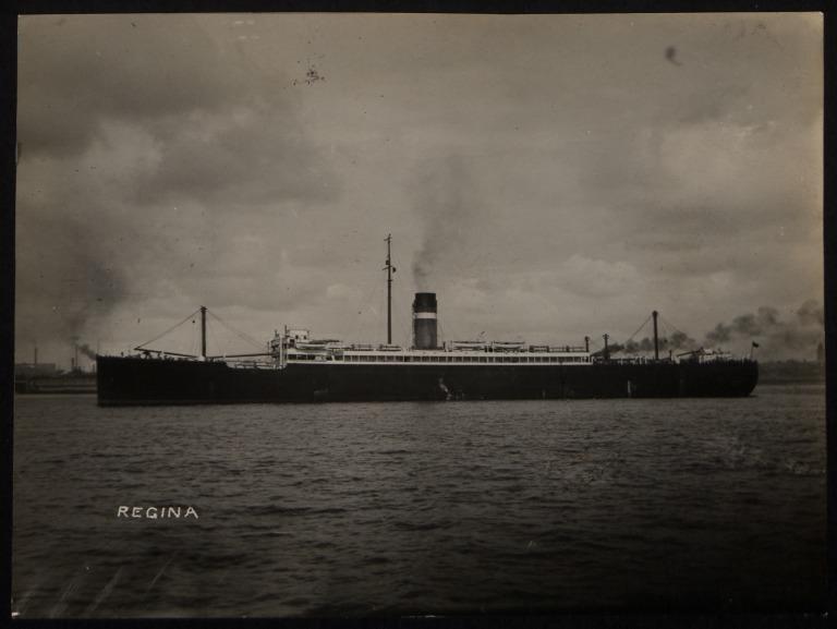 Photograph of Regina, Dominion Line card
