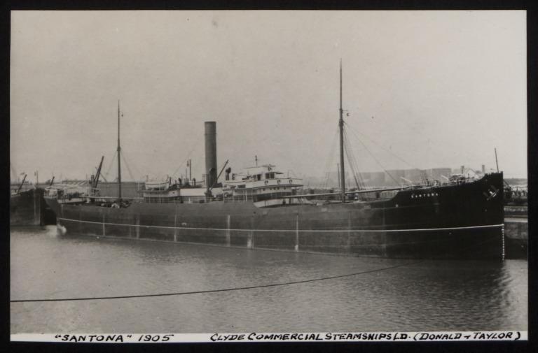 Photograph of Santona, Clyde Commercial Steamships card