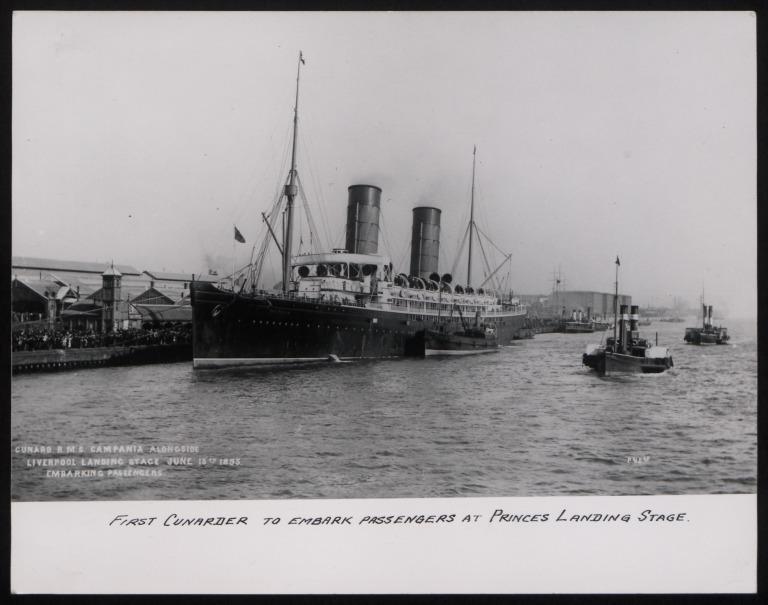 Photograph of Campania, Cunard Line card