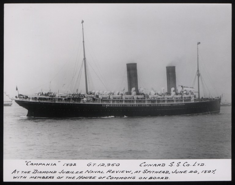 Photograph of Campania, Cunard Line card