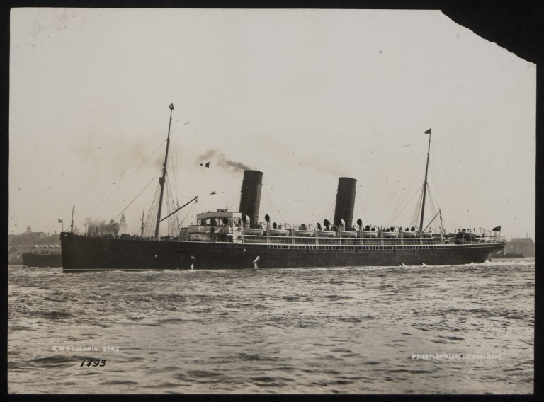 Photograph of Lucania, Cunard Line card