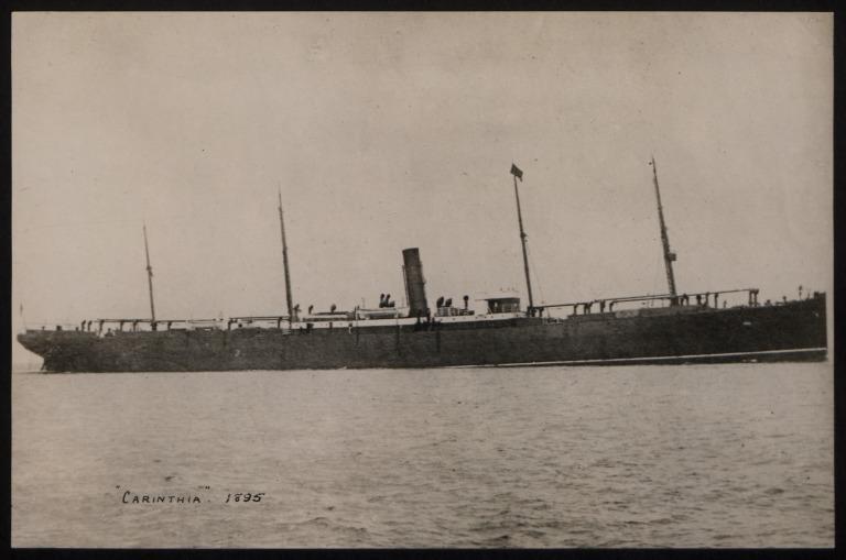 Photograph of Carinthia, Cunard Line card