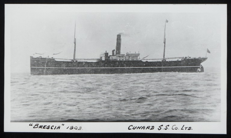 Photograph of Brescia, Cunard Line card