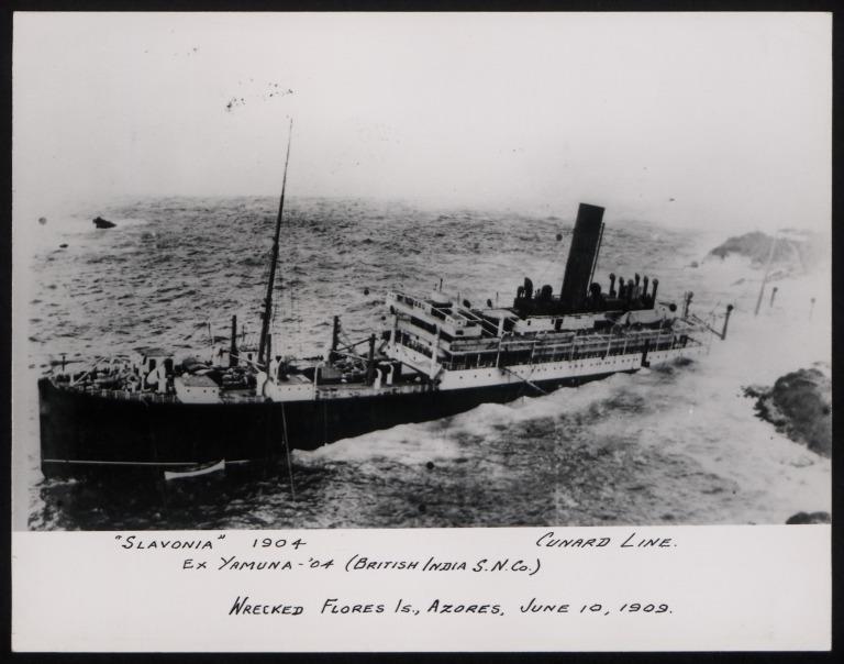 Photograph of Slavonia, Cunard Line card
