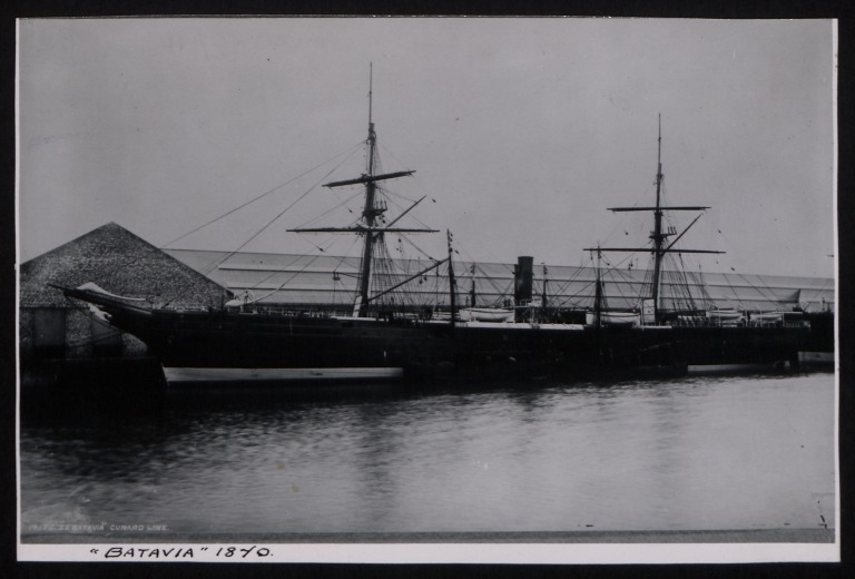 Photograph of Batavia, Cunard Line card