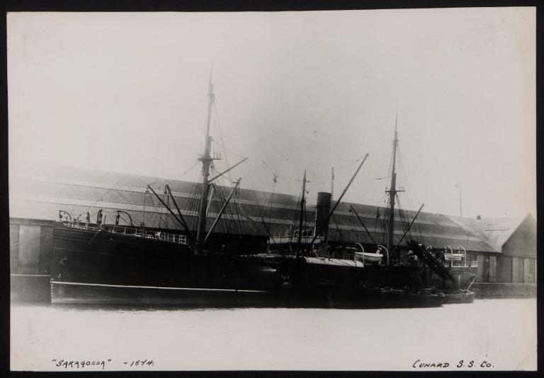 Photograph of Saragossa, Cunard Line card