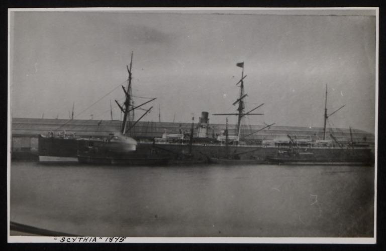 Photograph of Scythia, Cunard Line card