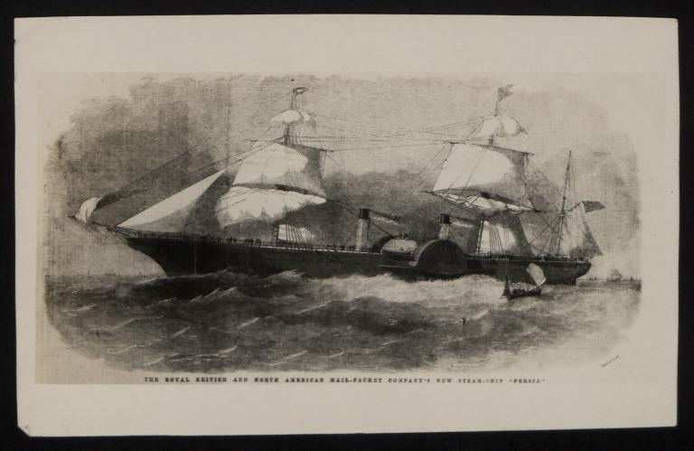 Photograph of Persia, Cunard Line card