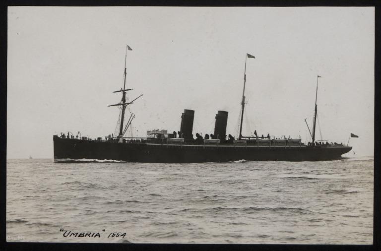 Photograph of Umbria, Cunard Line card