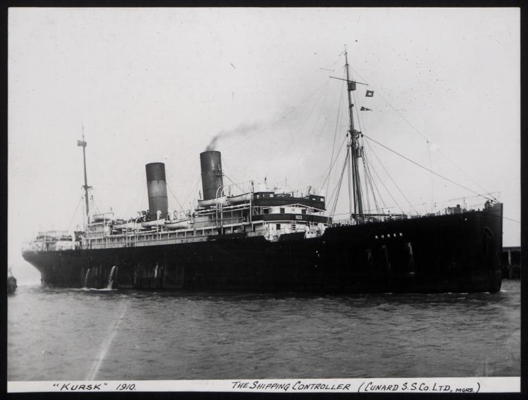 Photograph of Kursk, Cunard Line card