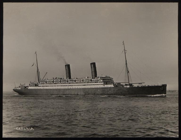 Photograph of Caronia, Cunard Line card