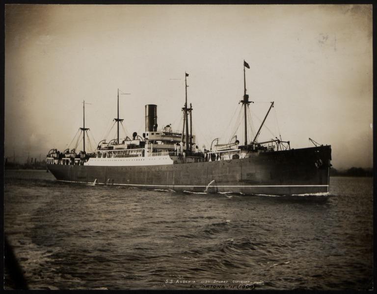 Photograph of Ausonia, Cunard Line card