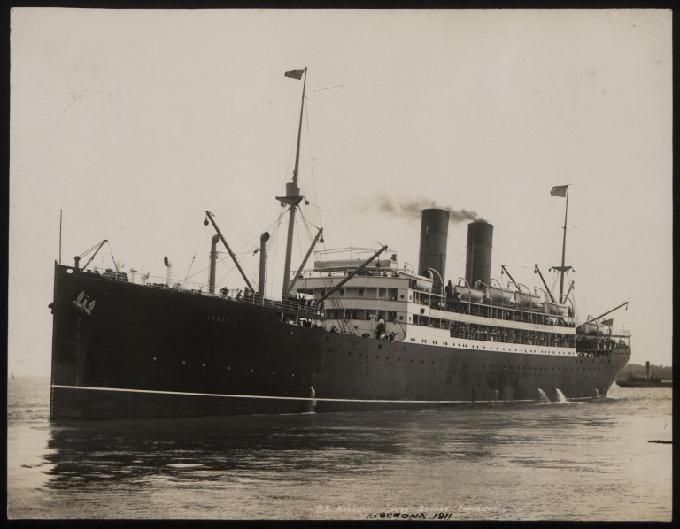 Photograph of Ascania, Cunard Line card