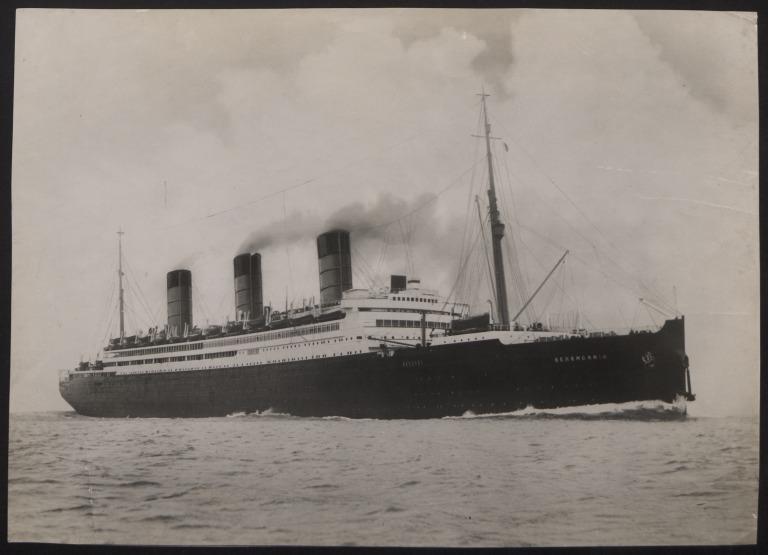 Photograph of Berengaria, Cunard White Star Line card