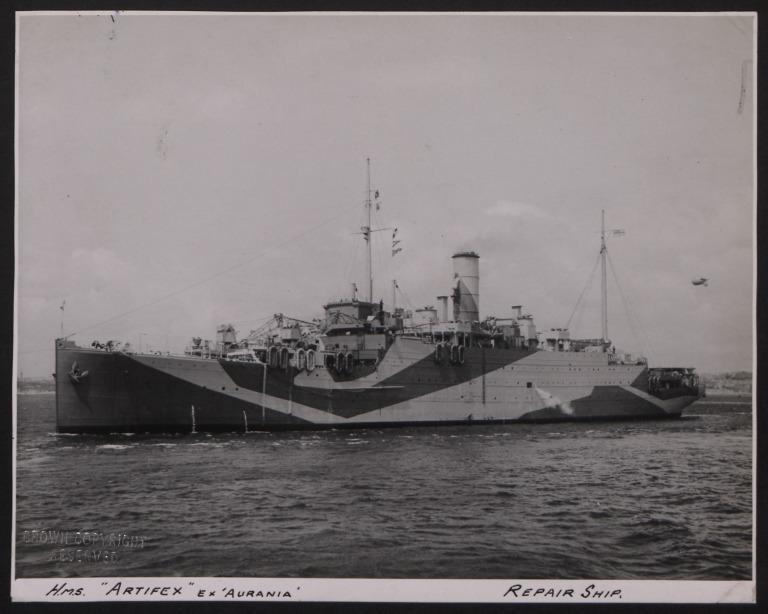 Photograph of Artifex, Cunard White Star Line card