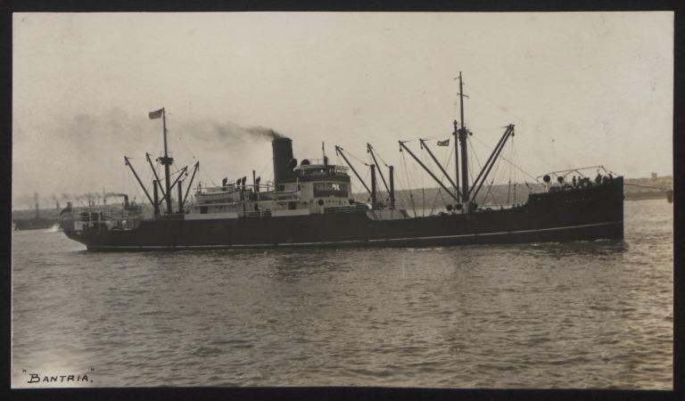 Photograph of Bantria, Cunard White Star Line card