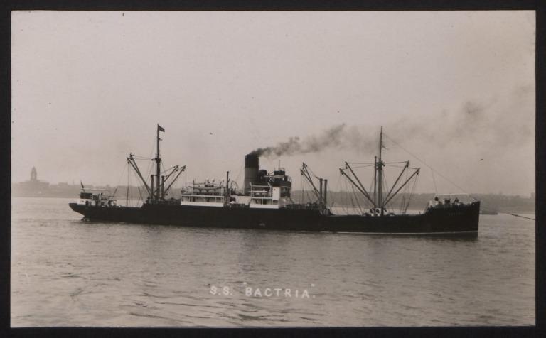 Photograph of Bactria, Cunard White Star Line card