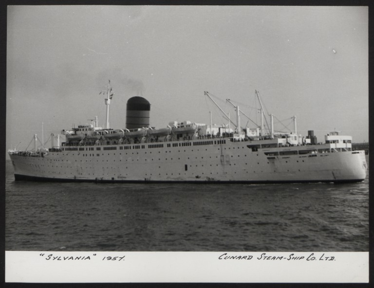 Photograph of Sylvania, Cunard White Star Line card
