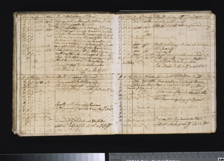 Log of the Unity of Liverpool on a slaving voyage to Holland, Africa and Jamaica, Robert Norris, Captain. card