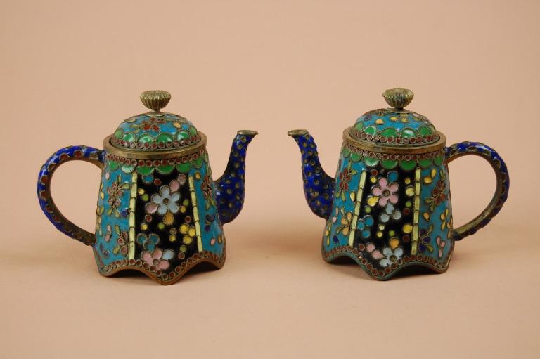Pair of Cloisonné Teapots card