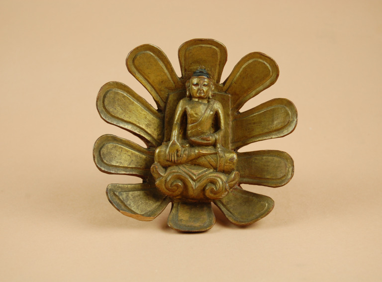 Carving / Lotus Boss with Historical Buddha card