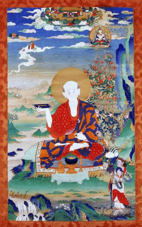 Thangka of Pindola Bharadvaja card